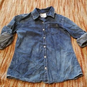 Girls 16 justice ombre denim shirt